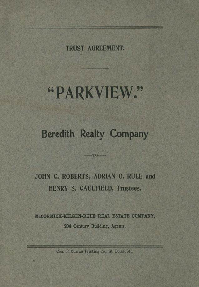 1905 Parkview Indenture