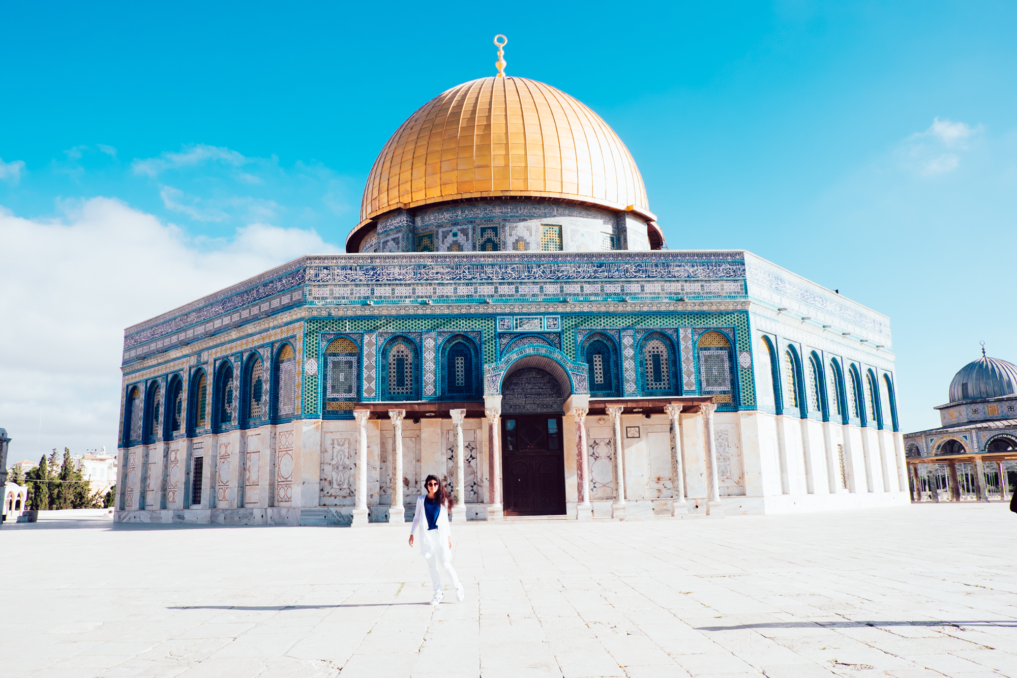 Before the rush at Temple Mount
