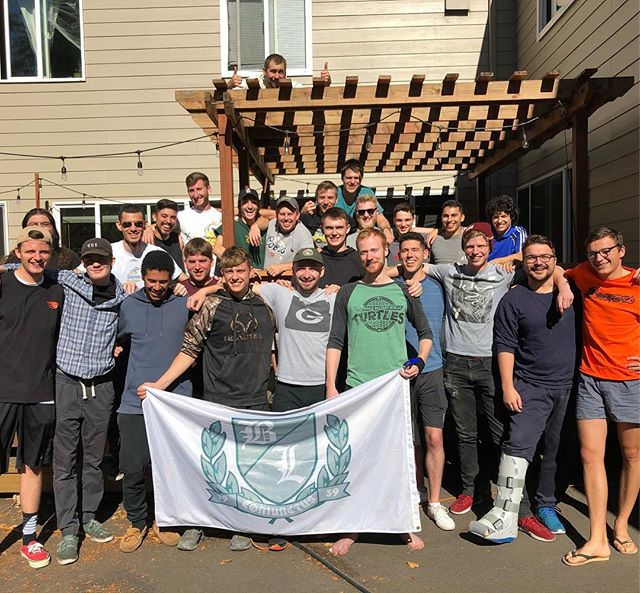 Fall Term's Work Party was a success! Our House Manager had his first go at running Work Party and he added some major improvements to the house! #TheBeaverLodge #BeaverLodgeThings #Brothers #CoopHousing