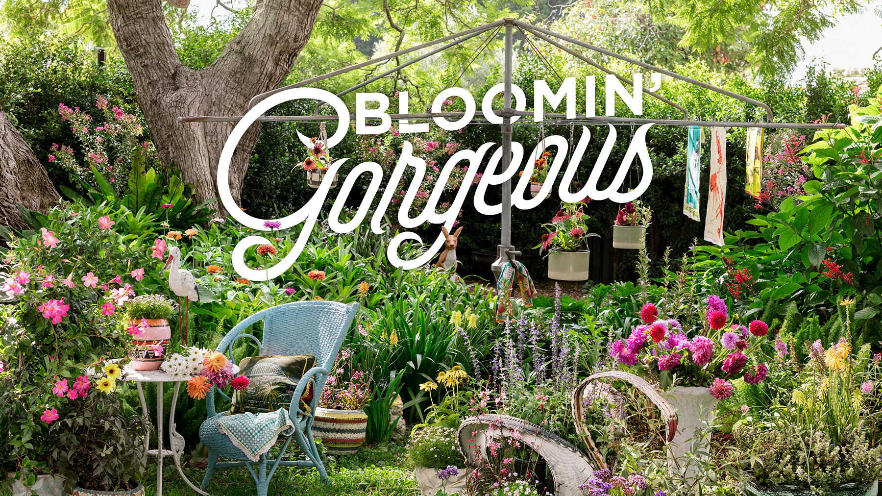 Bloomin' Gorgeous - If your guilty pleasure is Aussie kitsch then you'll bloomin' love this. With blousy flowers and bright colours, it will have you shouting 'Hello, Possums!' over the fence.
