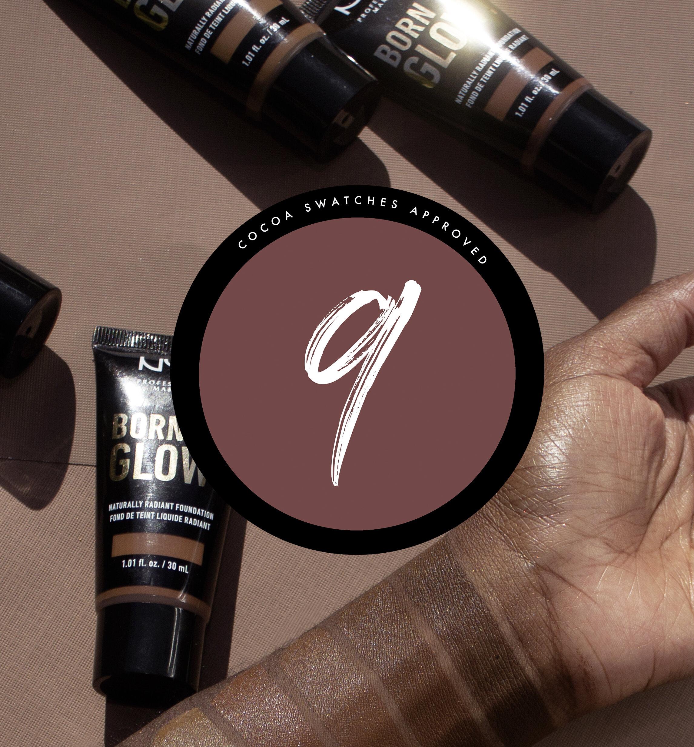 Born To Glow Foundation Nyx Cosmetics Cocoa Swatches