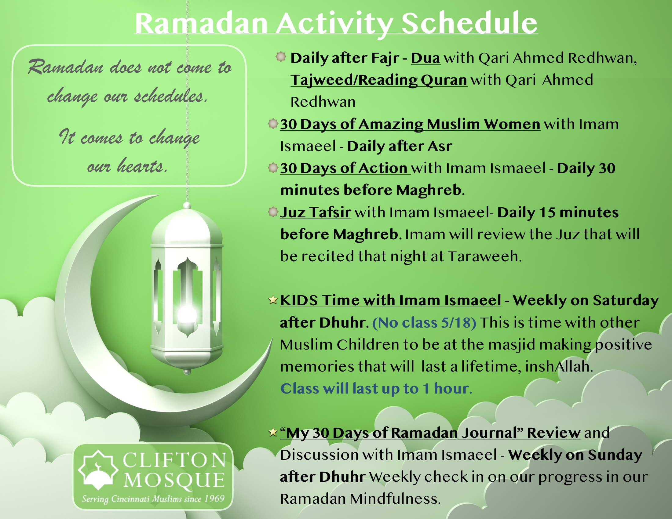 Ramadan — Clifton Mosque