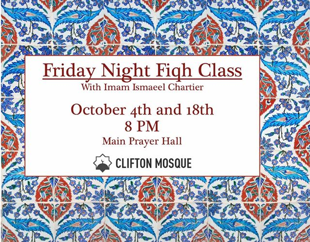 Come join us tomorrow for Friday Night Fiqh #inshaAllah #community #fiqh