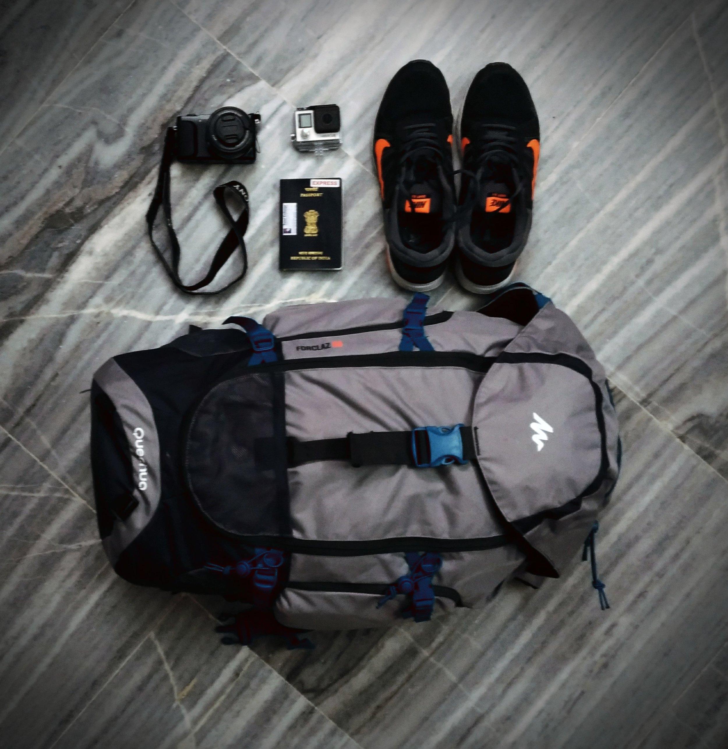My gear for three weeks