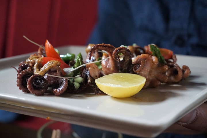 Grilled Octopus in an Anticucho Sauce