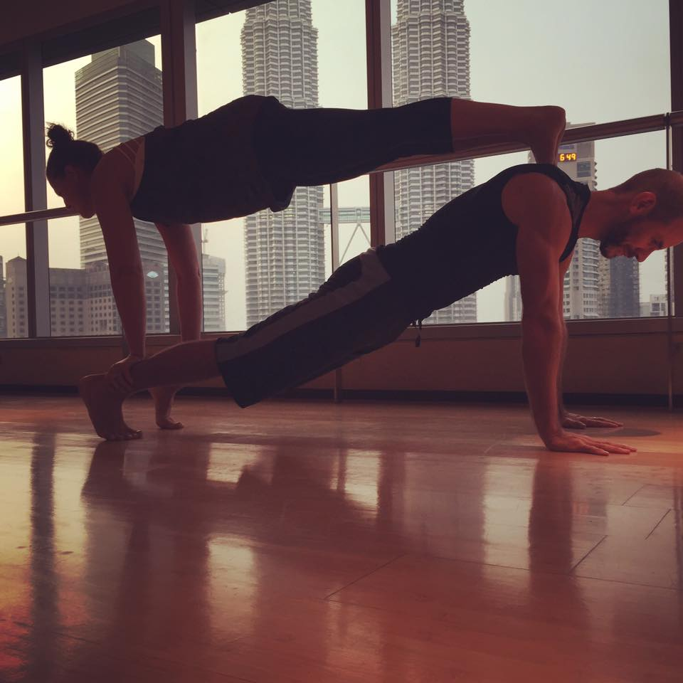Yoga with friends works well too! Remember you don't have to practice alone .
