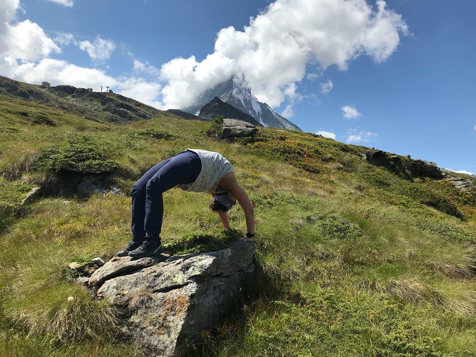 Bonus points for practicing yoga outside!