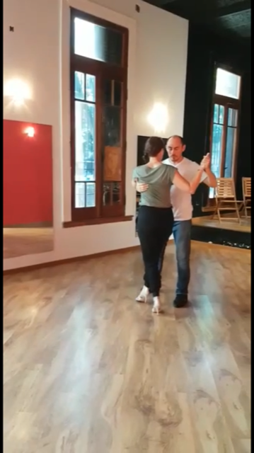 Ramon the master leading me in the tango.