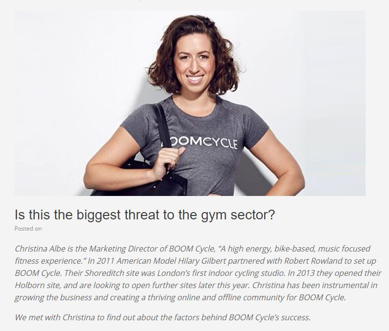 'Is this the biggest threat to the gym sector?' The Fitness Network