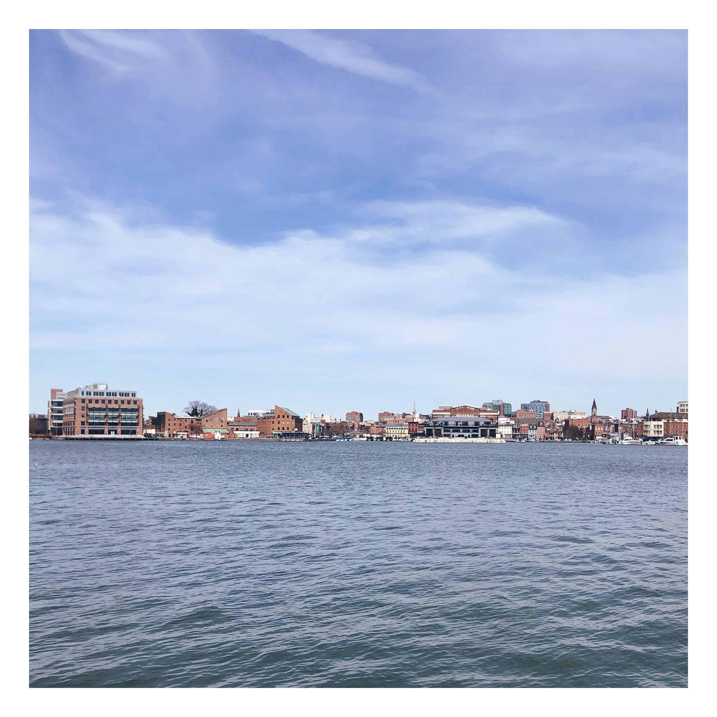 View of Fells Point from Under Armour's campus