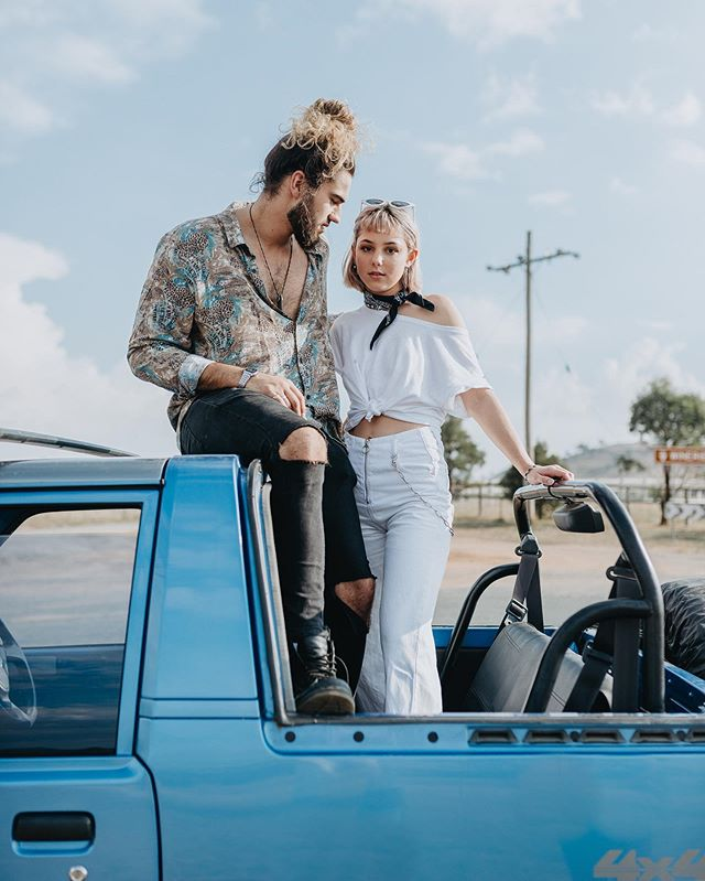 Who else can picture riding in this car on a summer day with a sea breeze in their hair and no cares in the world? 🙋♀️ ⠀⠀⠀⠀⠀⠀⠀⠀⠀ An old shoot but a goodie - Je t'aime, moi non plus ⠀⠀⠀⠀⠀⠀⠀⠀⠀ CREATIVE DIRECTION + STYLING | @maeva.navas MAKE UP ARTIST | @makeupbyjeean MODELS | @dilylummond & @lukassavic_ from @hausmodels . . . . . . . . . . . . . . . . . . #portraitphotographer #canberra #canberramua #fashionphotography #summer #couplephotography #weddingphotographer #canberramodel #canberraphotographer #love #moodyports #portraitgames #agameoftones #instagood #bravogreatphoto #portraitpage #photobugcommunity #lookslikefilm #australianphotographer #australia #instamood #soft #pastels #igers #nature #visitcanberra #northcanberra #hall #winery #australianmodel