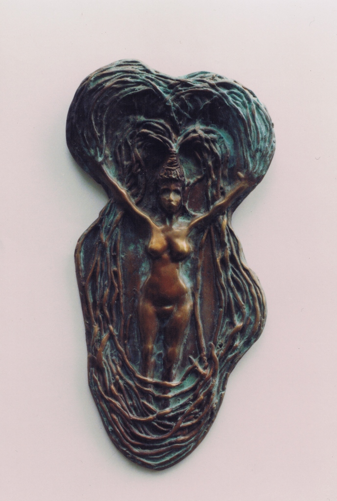 cast bronze, wall mounted
