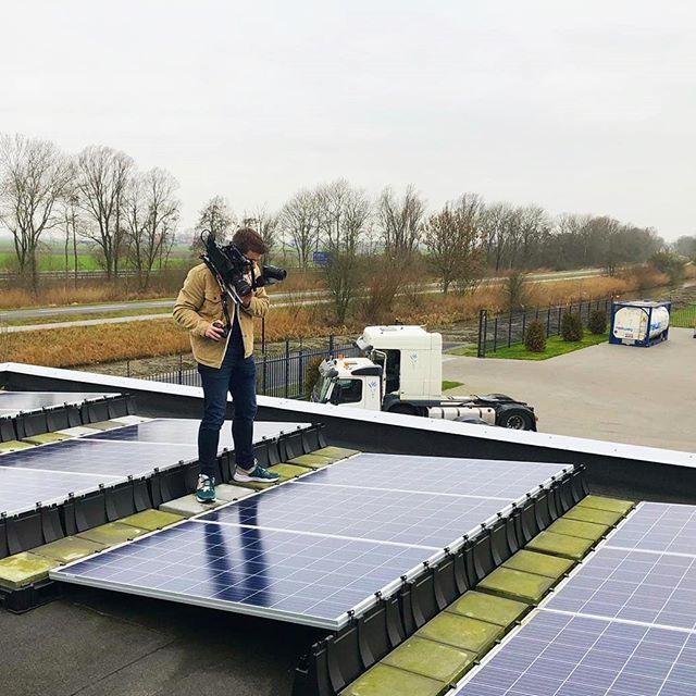 Zonnepanelen kunnen natuurlijk niet ontbreken als je het over duurzaamheid hebt! ☀️⛅