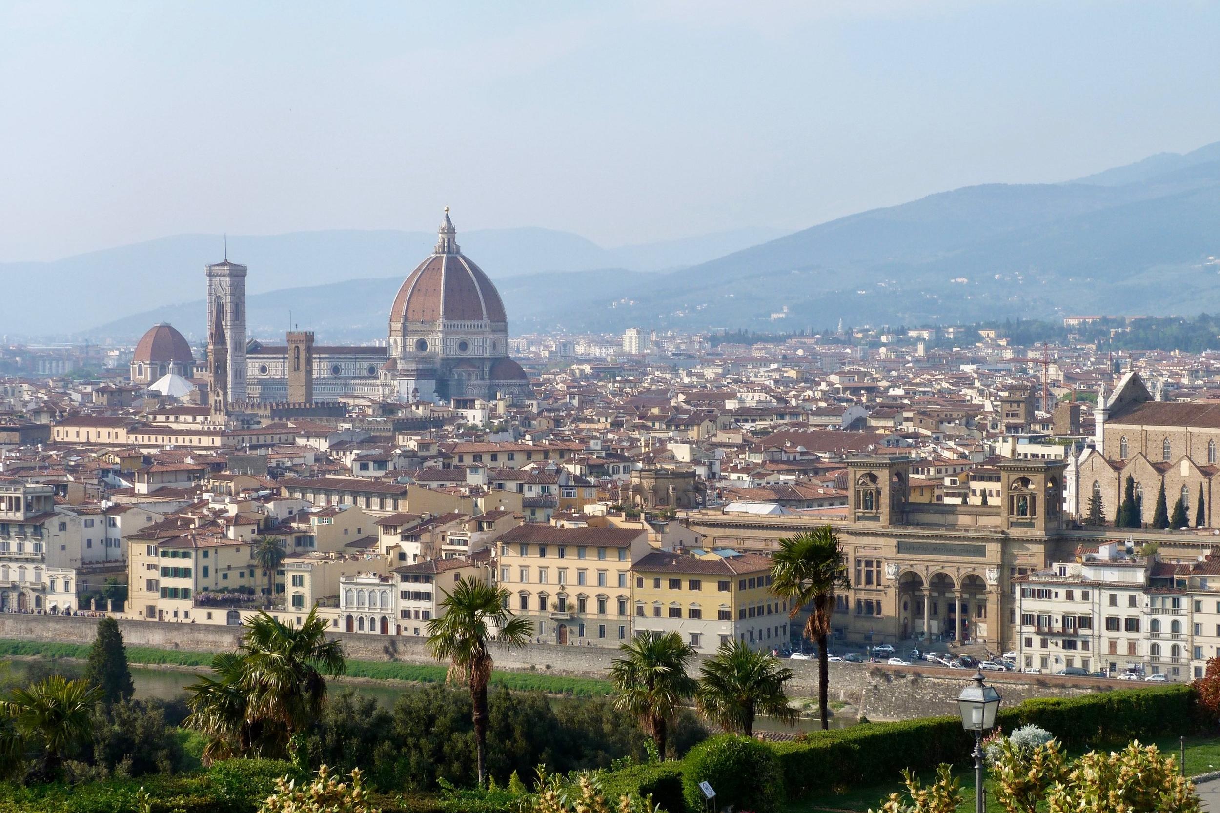 Vue sur Florence depuis la Basilique San Miniato Al Monte