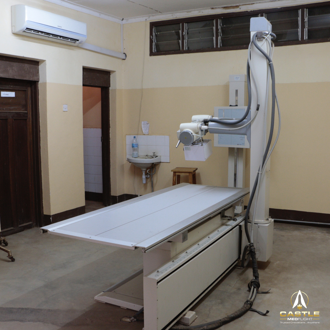 A non functioning x-ray machine in Eastern Africa. Identifying equipment barriers such as this is our specialty.