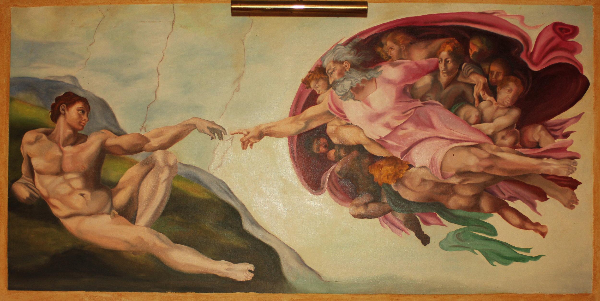 "REPRO ""LA CREATION D'ADAM"" (1650x800) Repro"