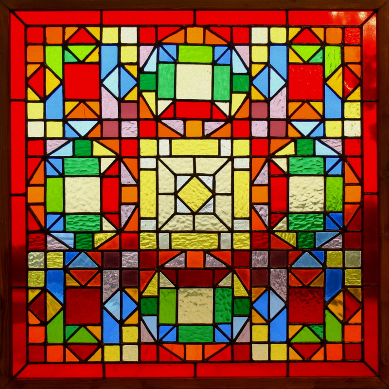 DEDALE (60x60) Création vitrail Tiffany