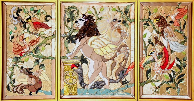 TRIPTYQUE A LA COLONNE (105x190)