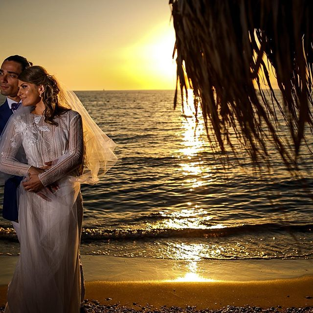 #groom #bride #sunset #beauty #beach #photography #wedding
