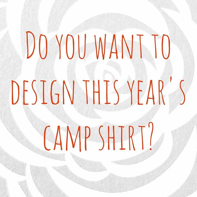 DO YOU WANT TO DESIGN THIS YEAR'S CAMP SHIRT?  This year, we're trying something a little differentfor the camp t-shirt design. Campers will have the opportunity tosubmit their art (not the actual t-shirt designjust a few images of their art style) and once someone is chosen, we will talk about the shirt design and due date. This is for campers only.  Please send 2 or 3 images of your artto laurabowman.etusc@gmail.com DEADLINE FOR SUBMISSIONS: June 15th