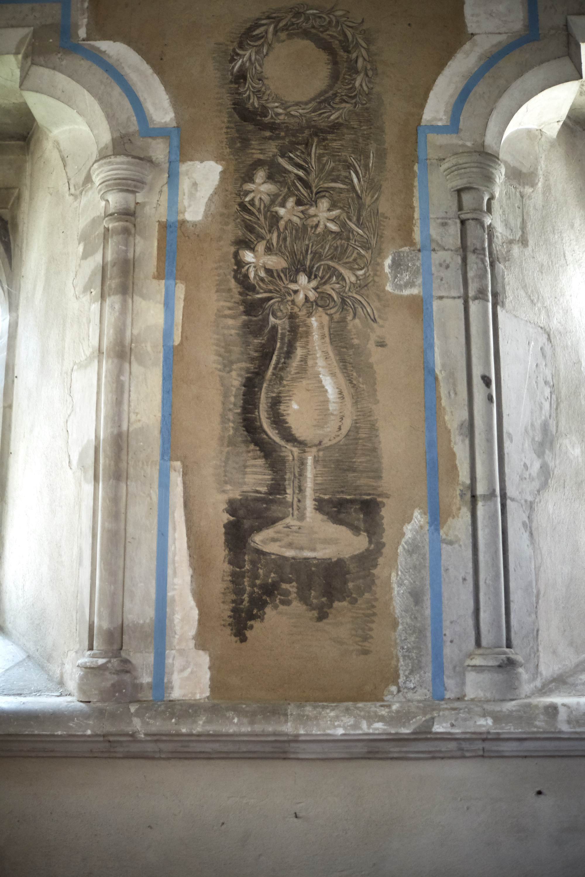 Fresco painted by Vanessa Bell in Berwick Church  Photo by: Kristin Perers