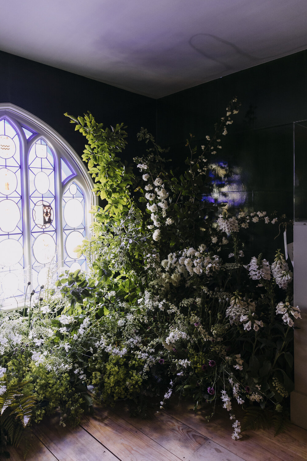 Installation by Leigh Chappell using flowers grown by Wolves Lane Flower Company  Photo by Eva Nemeth