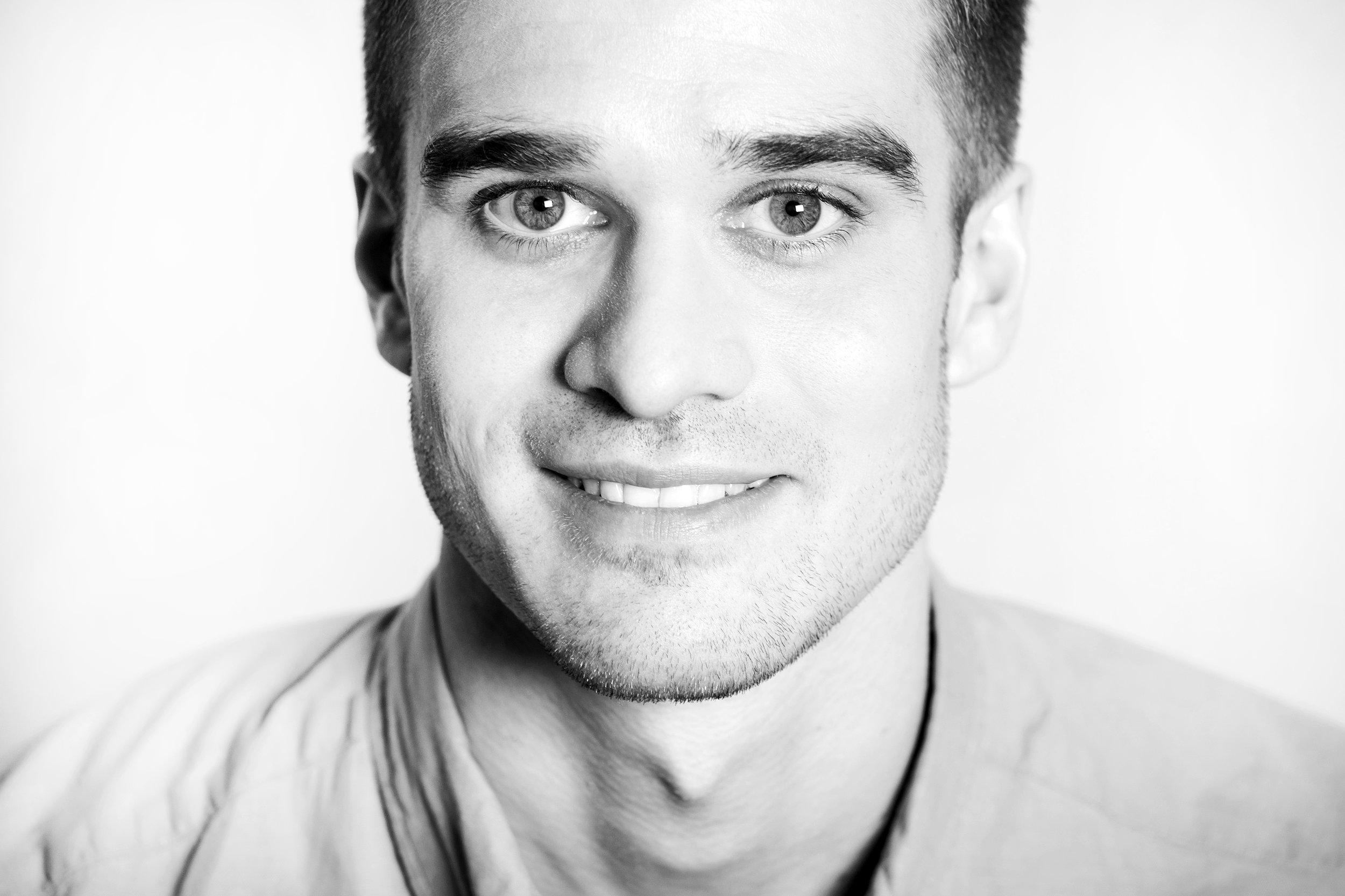Schwarz-Weiß-Porträt Sven Frischemeier