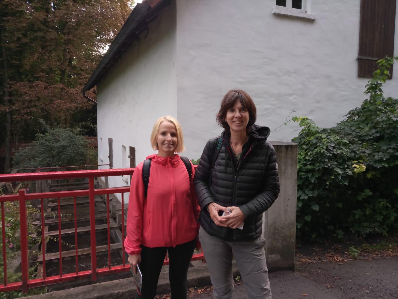 Miriam Pospich (Arbeitskreis Umwelt und Klima der SPD Bielefeld) und Bettina Branke (Umweltamt Bielefeld)