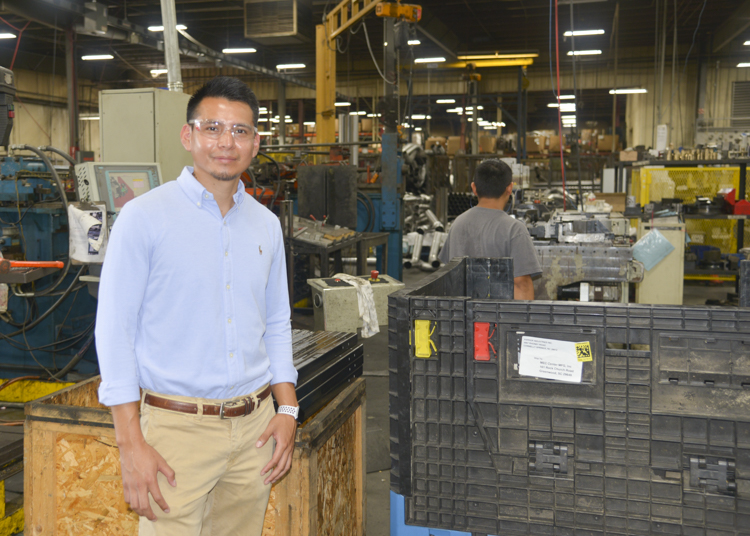 MEC - Orlando Carillo on plant floor..JPG