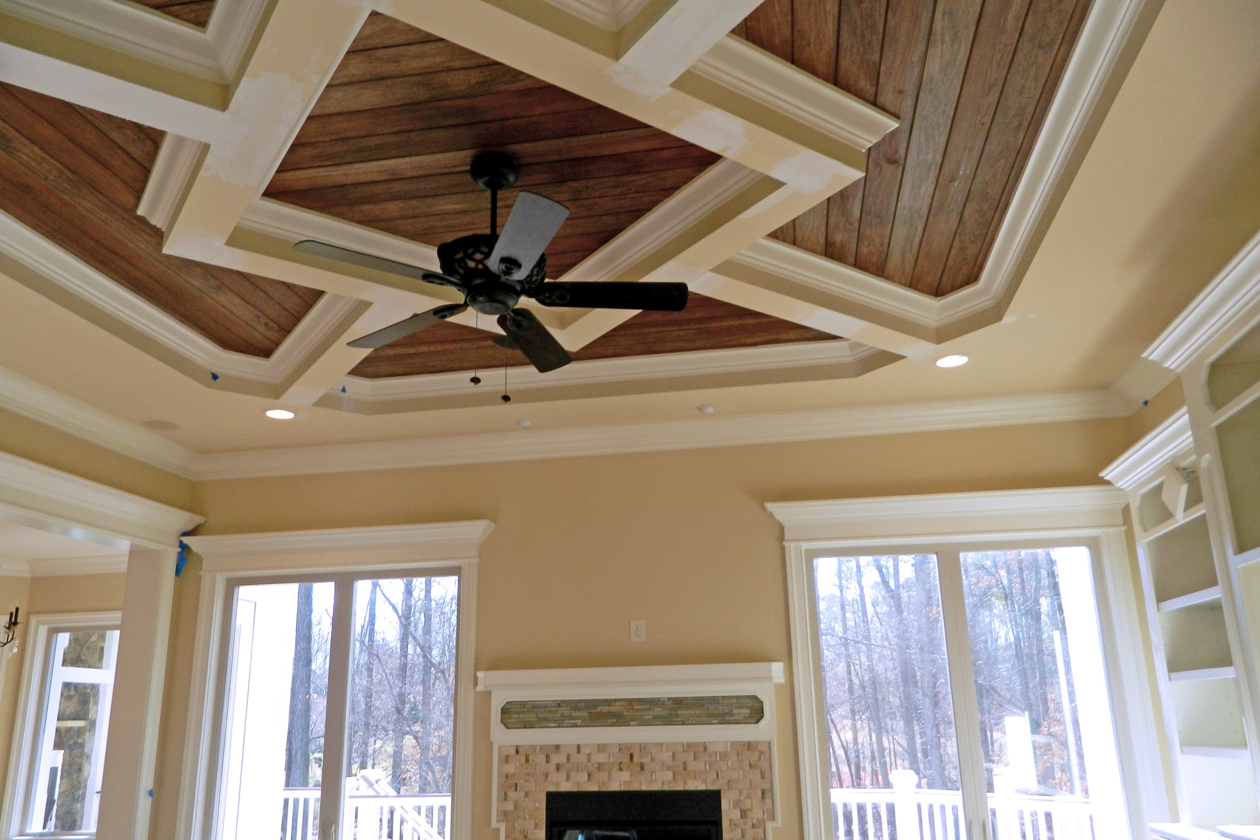 Tongue and Groove & Coffered Ceiling