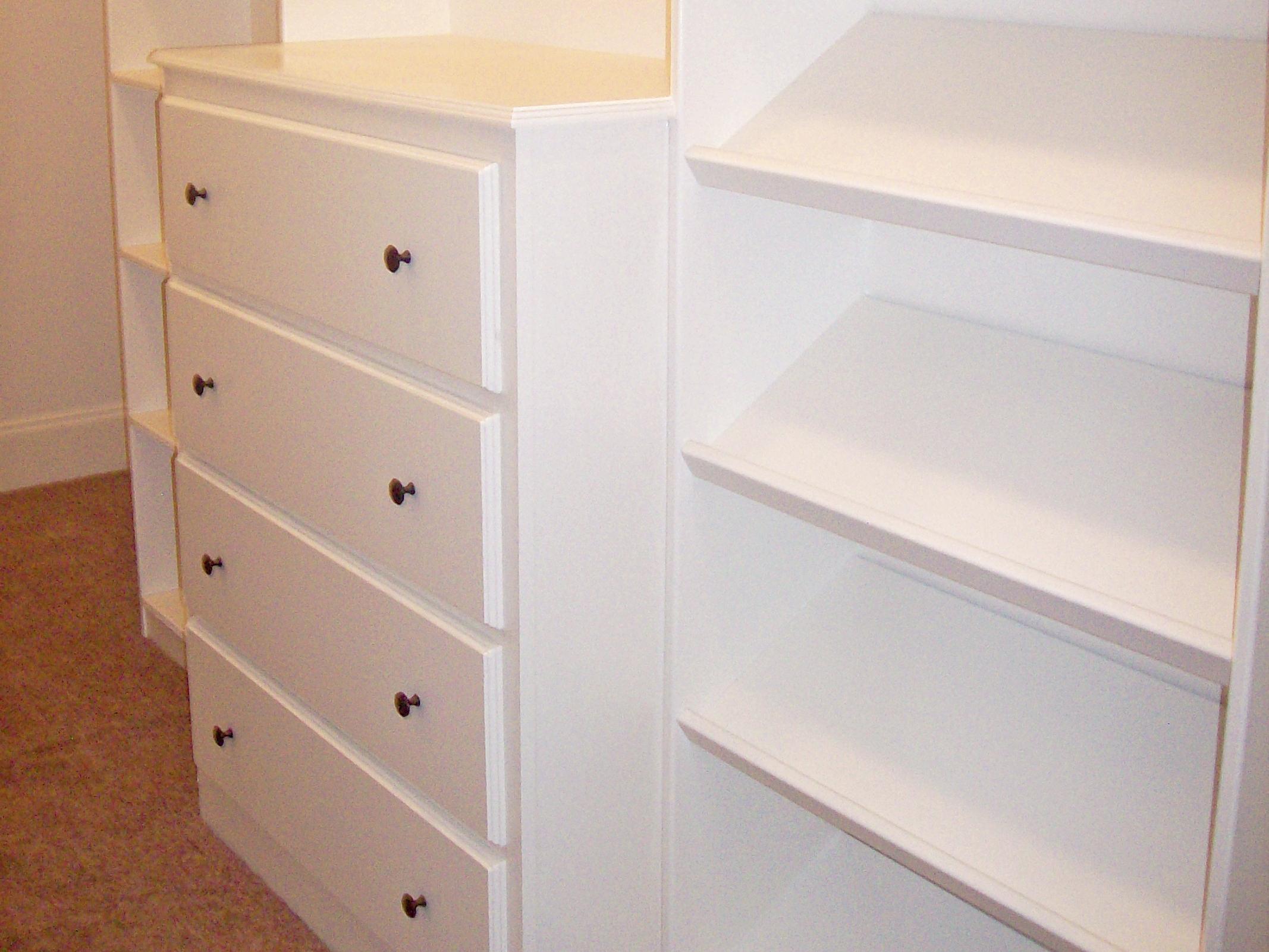Custom Walk In Closet Drawers