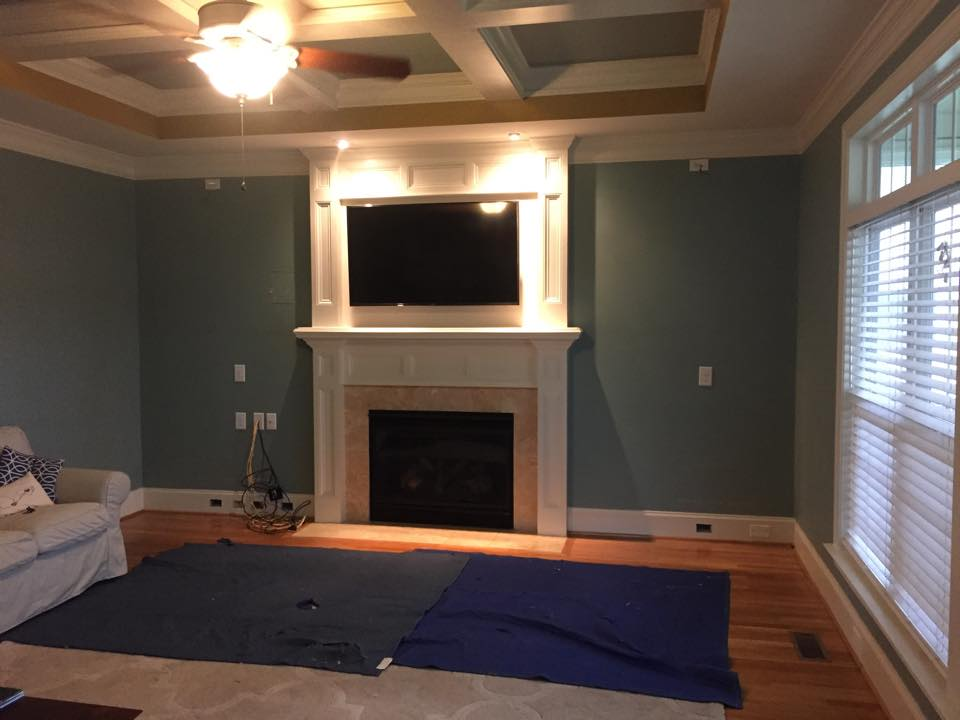 Fireplace Built-Ins - Before