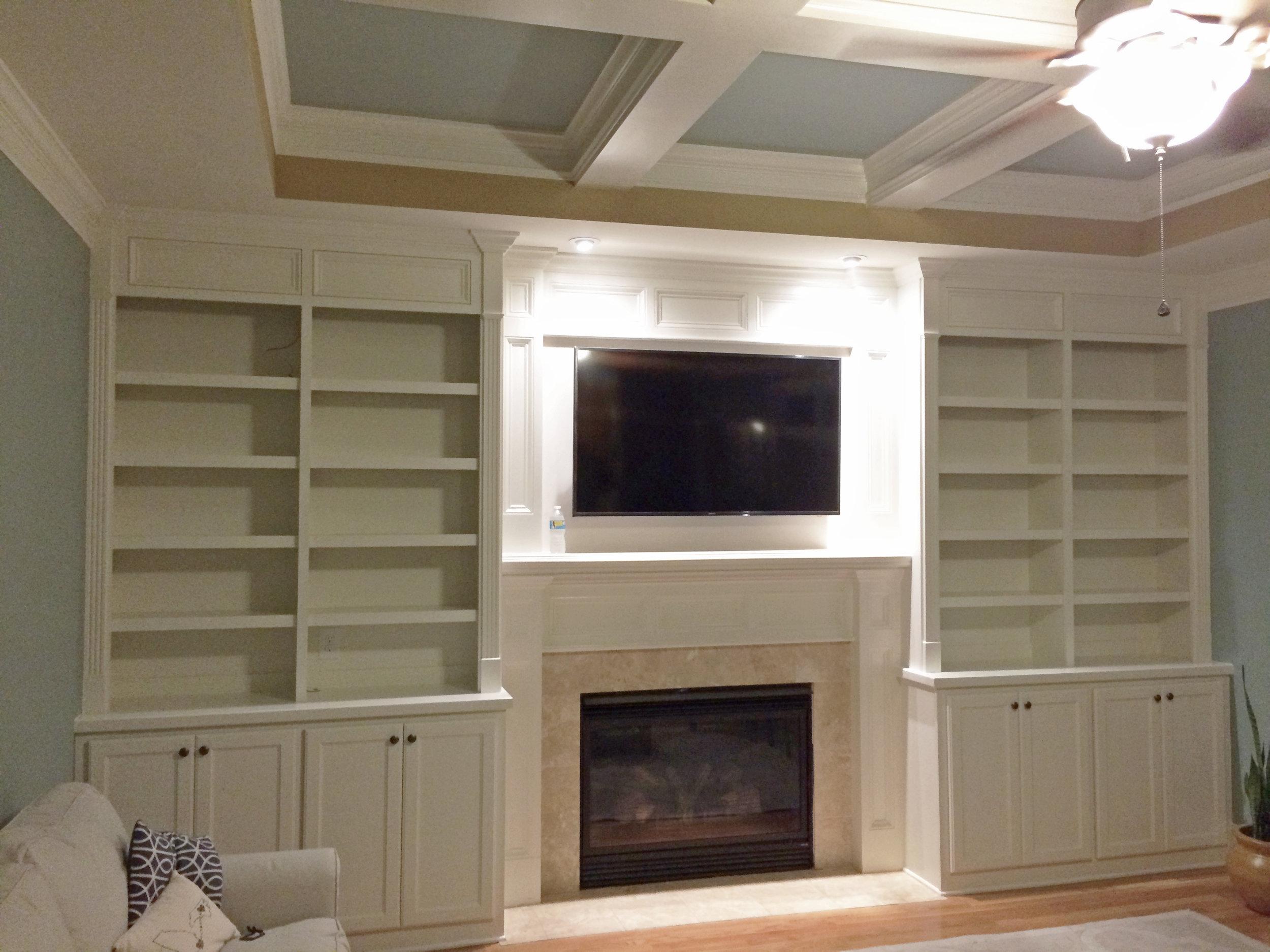 Fireplace Built-Ins - After