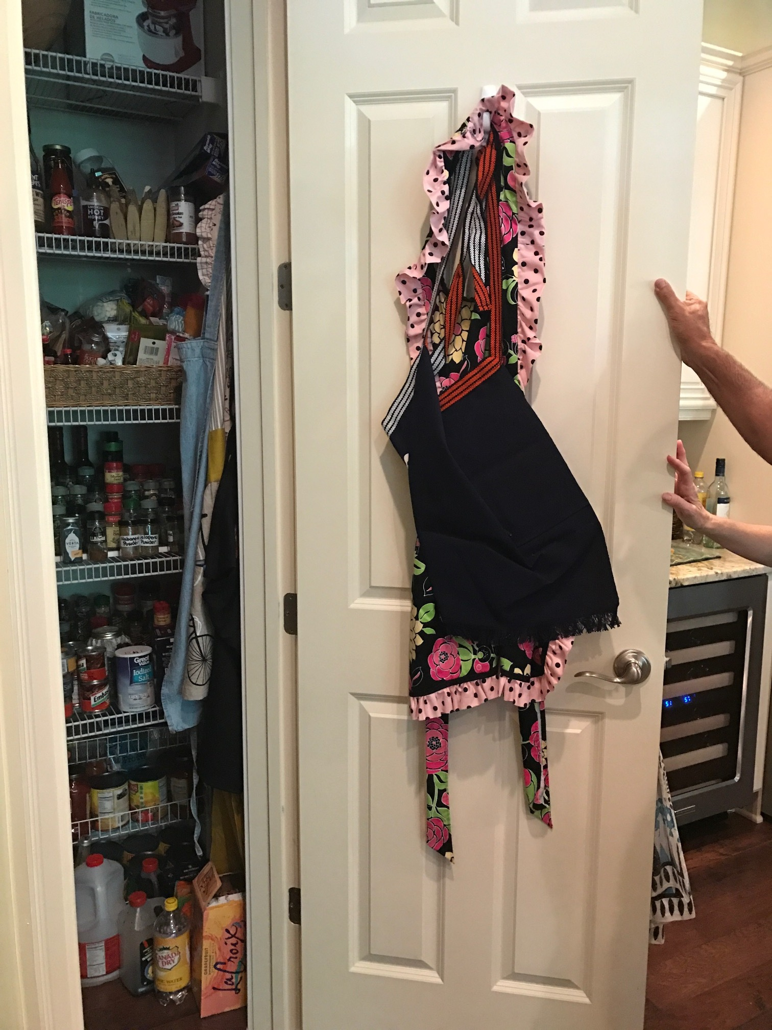 Kitchen Pantry with Door Spice Rack - Before