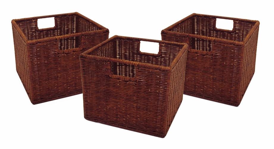 wicker storage baskets