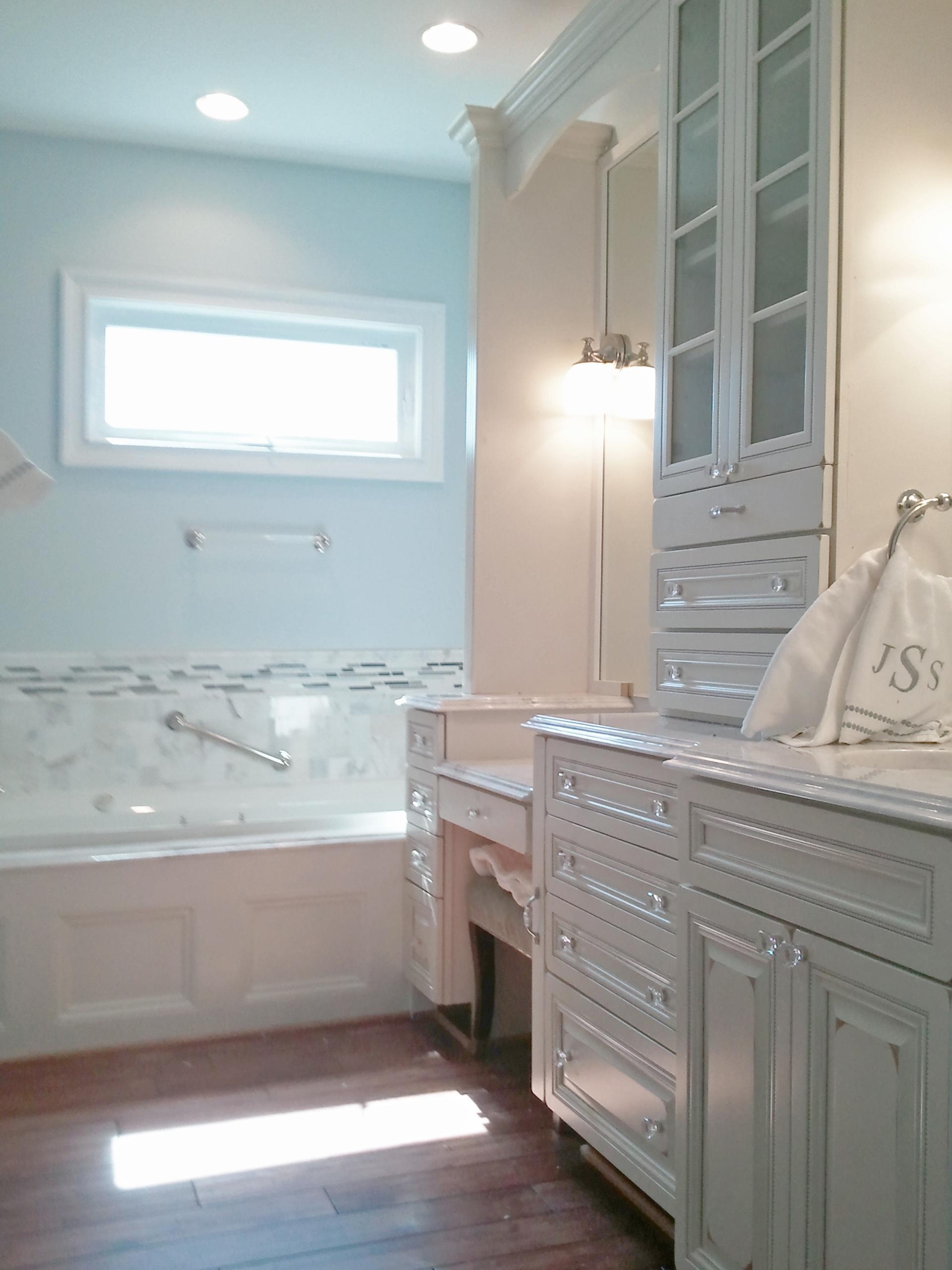 Distressed Vanity with Raised Panel Doors & Drawers (2 of 3)