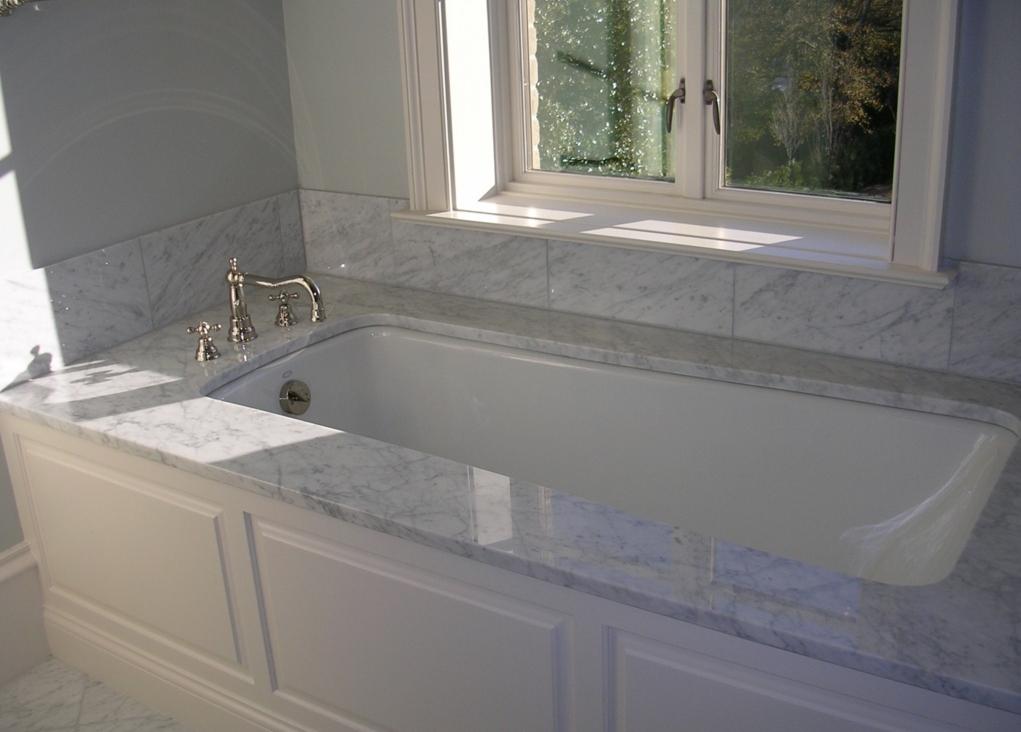 Custom Tub Surround with Raised Panel Detail