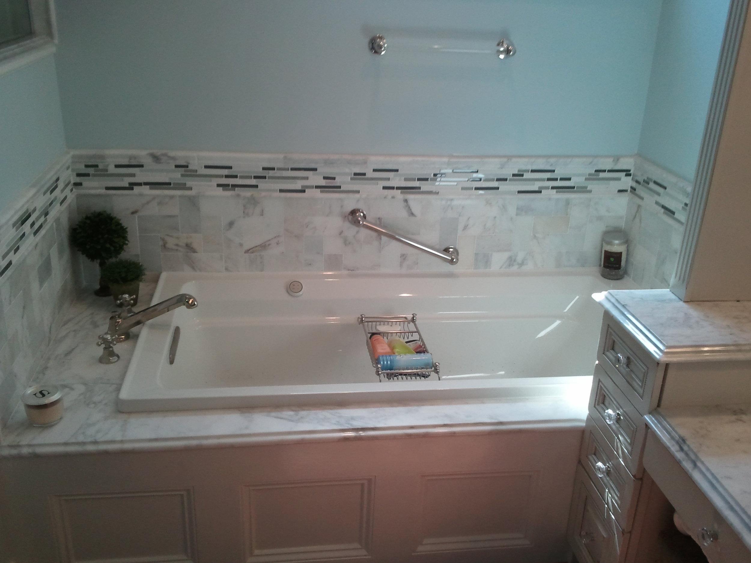 Custom Bathtub Surround with Panel Detail