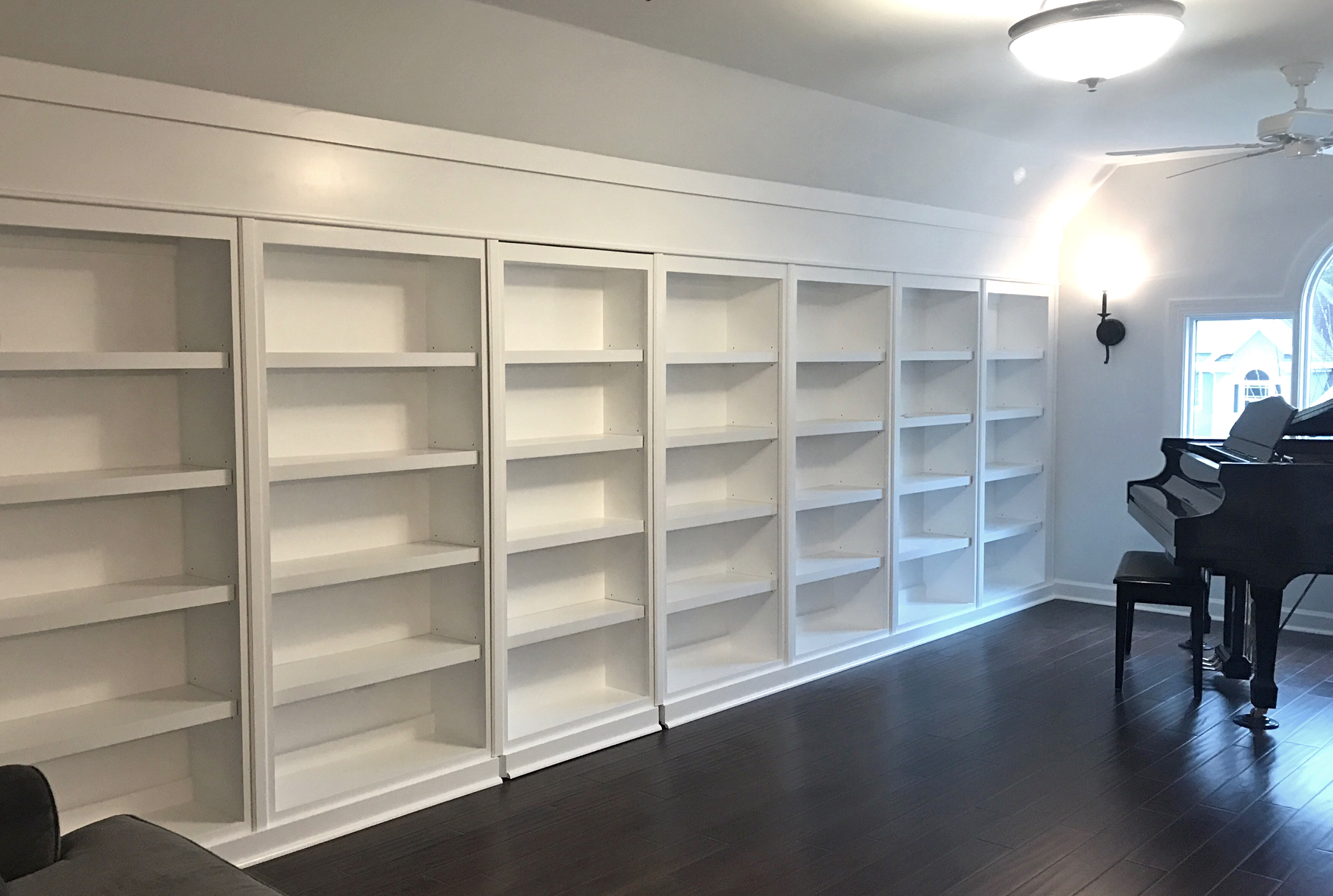 Bookcase with Header Detail & Hidden Door