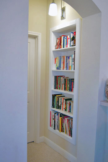 Nook Bookcase with Fixed Shelves