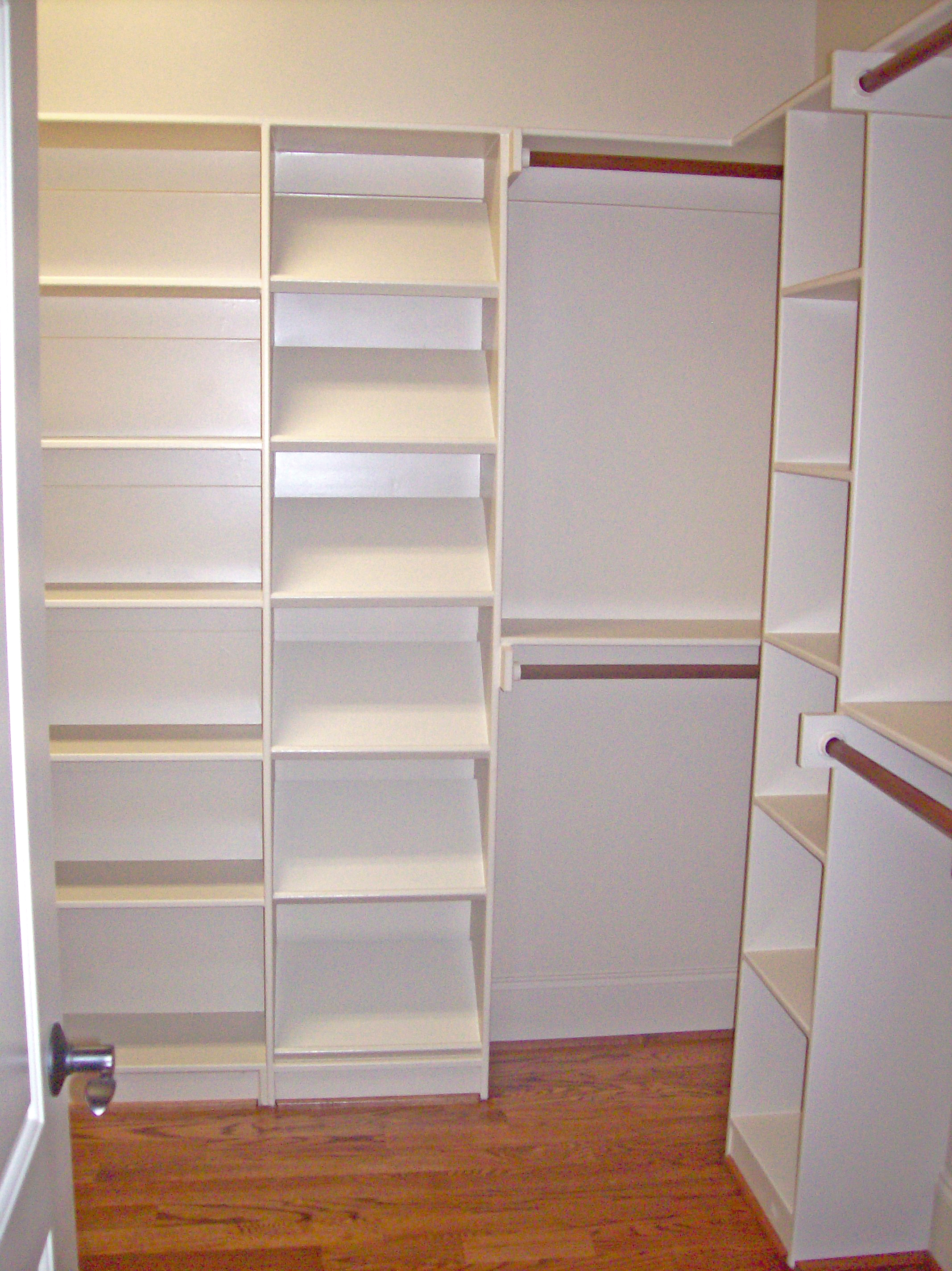 Reach-In Closet with Cubbies & Double Hang