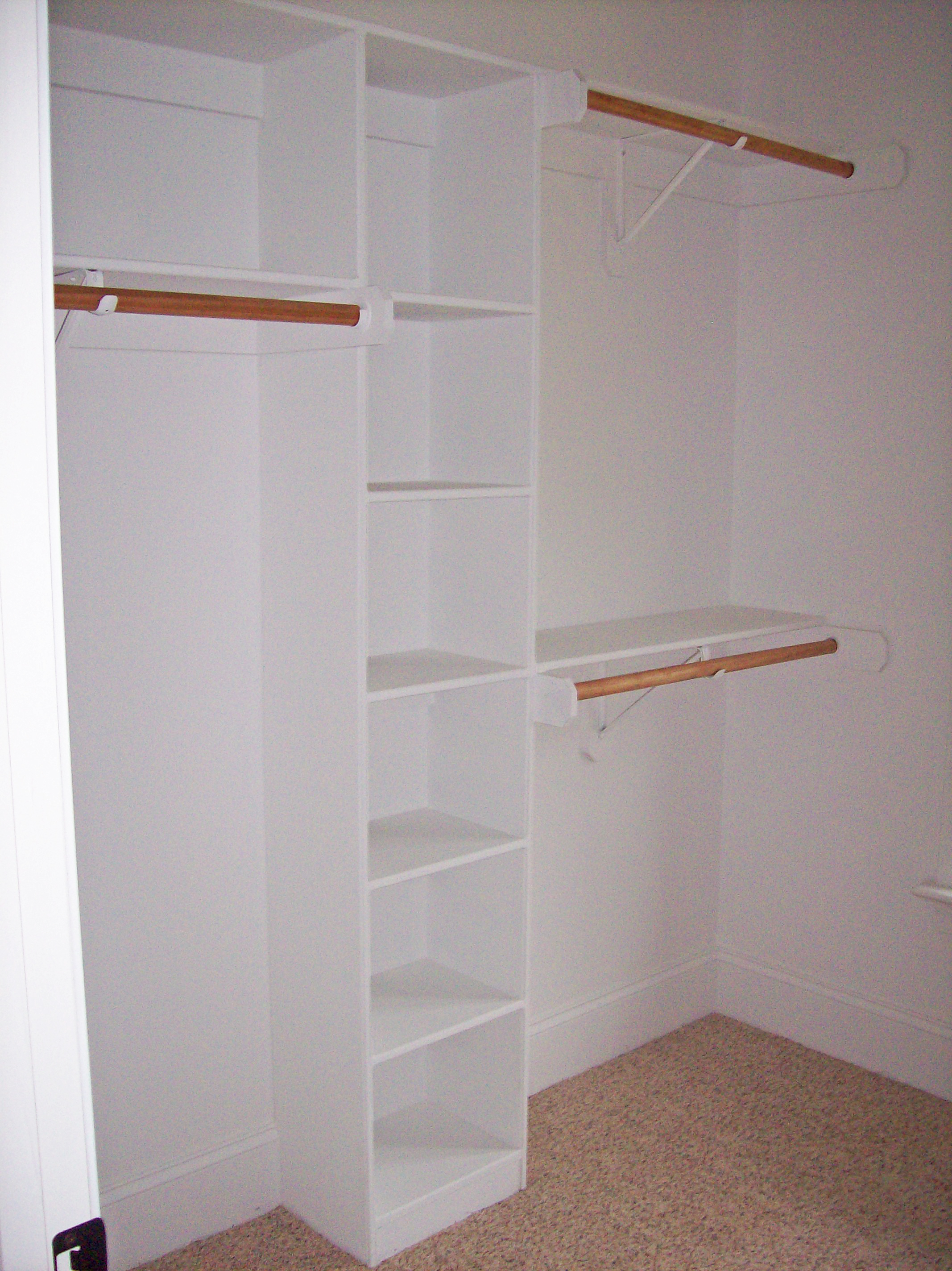 Closet with Cubbies, Double Hang & Long Hang
