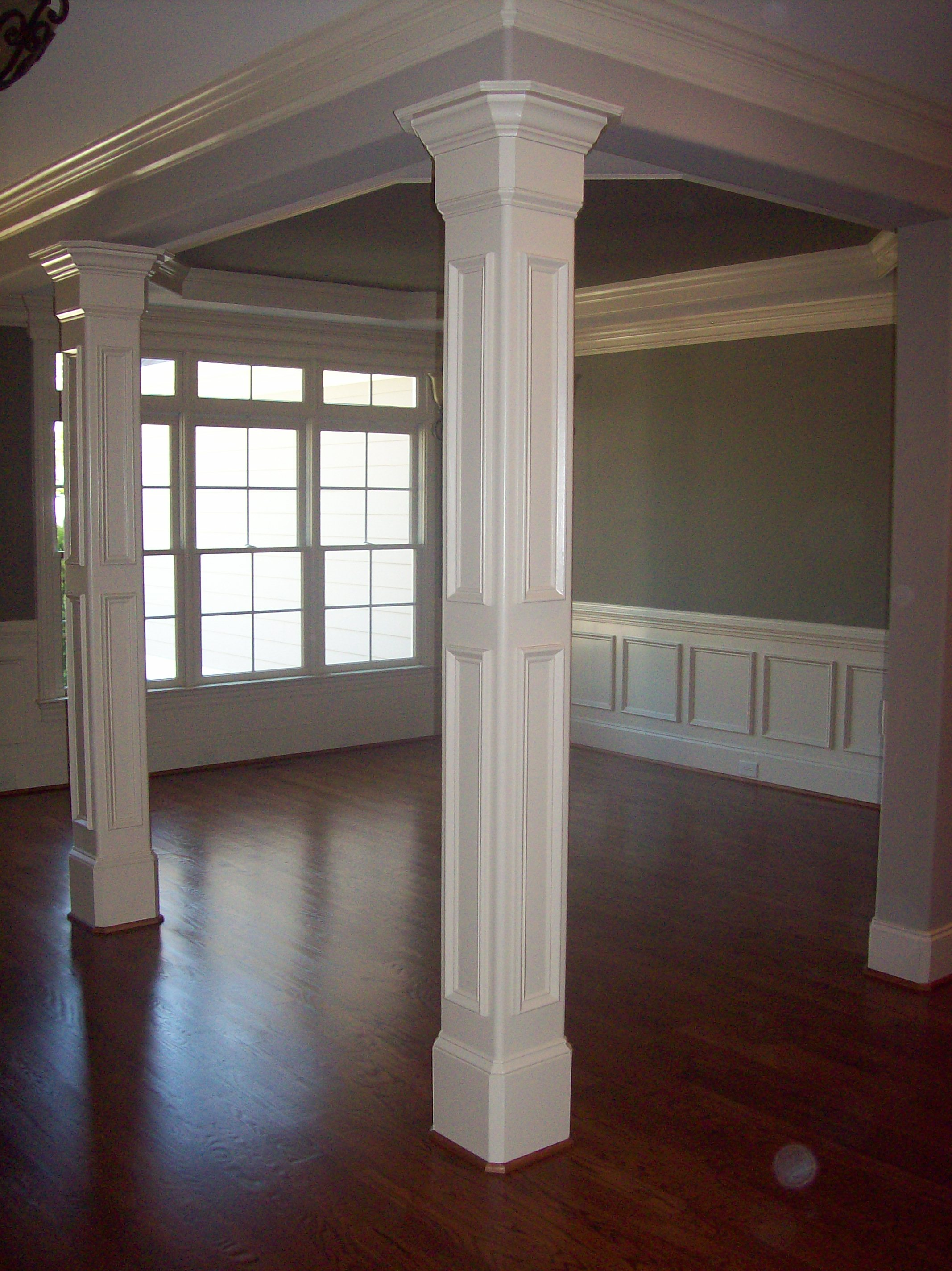 Raised Panel Columns with Crown