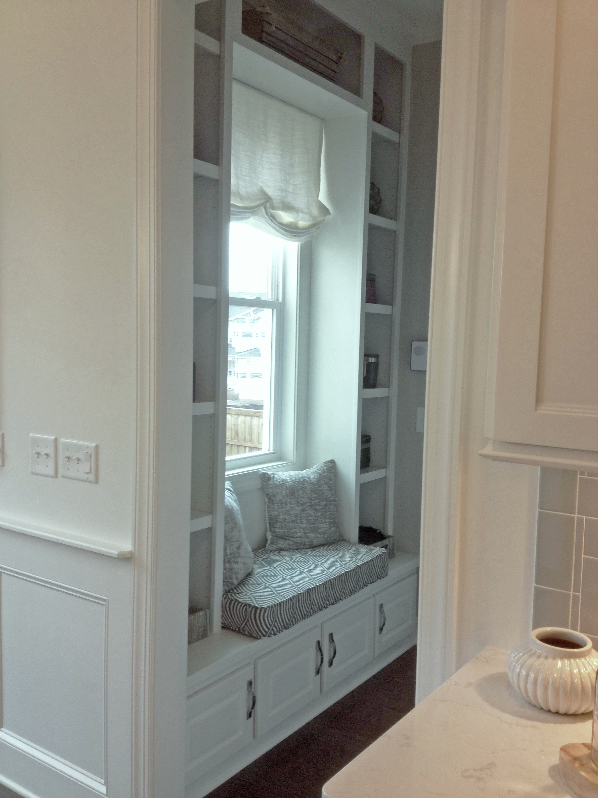Built-In Window Seat with Upper Storage
