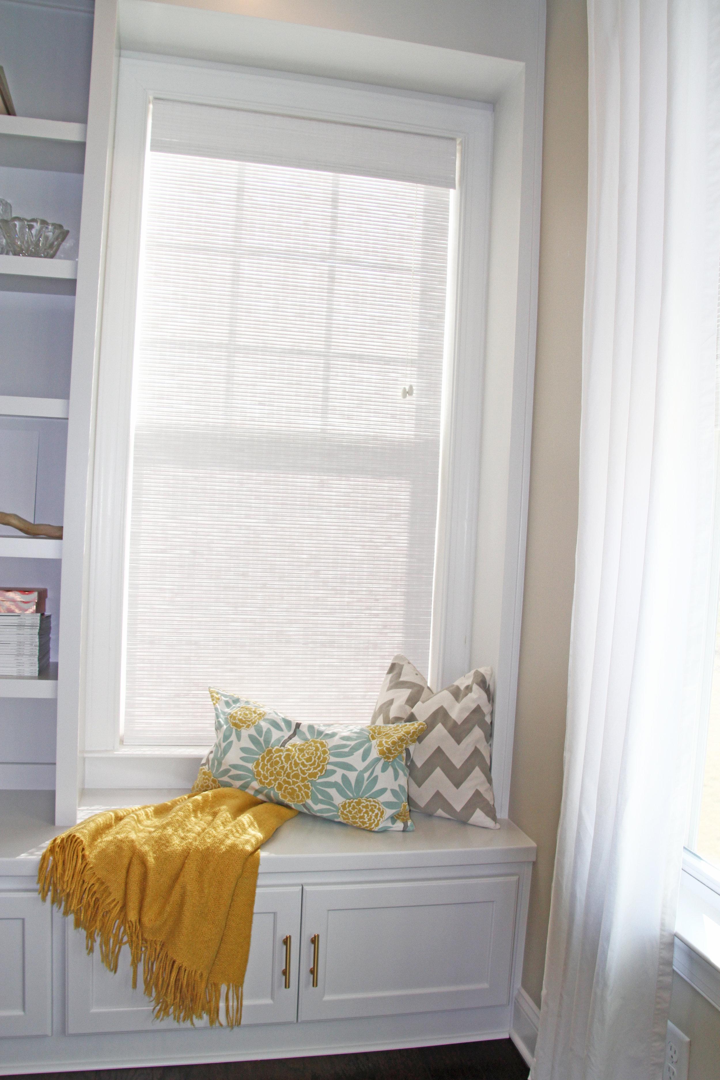 Built-In Window Seat with Shaker Doors