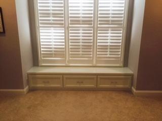 Custom Window Seat with Shaker Drawers