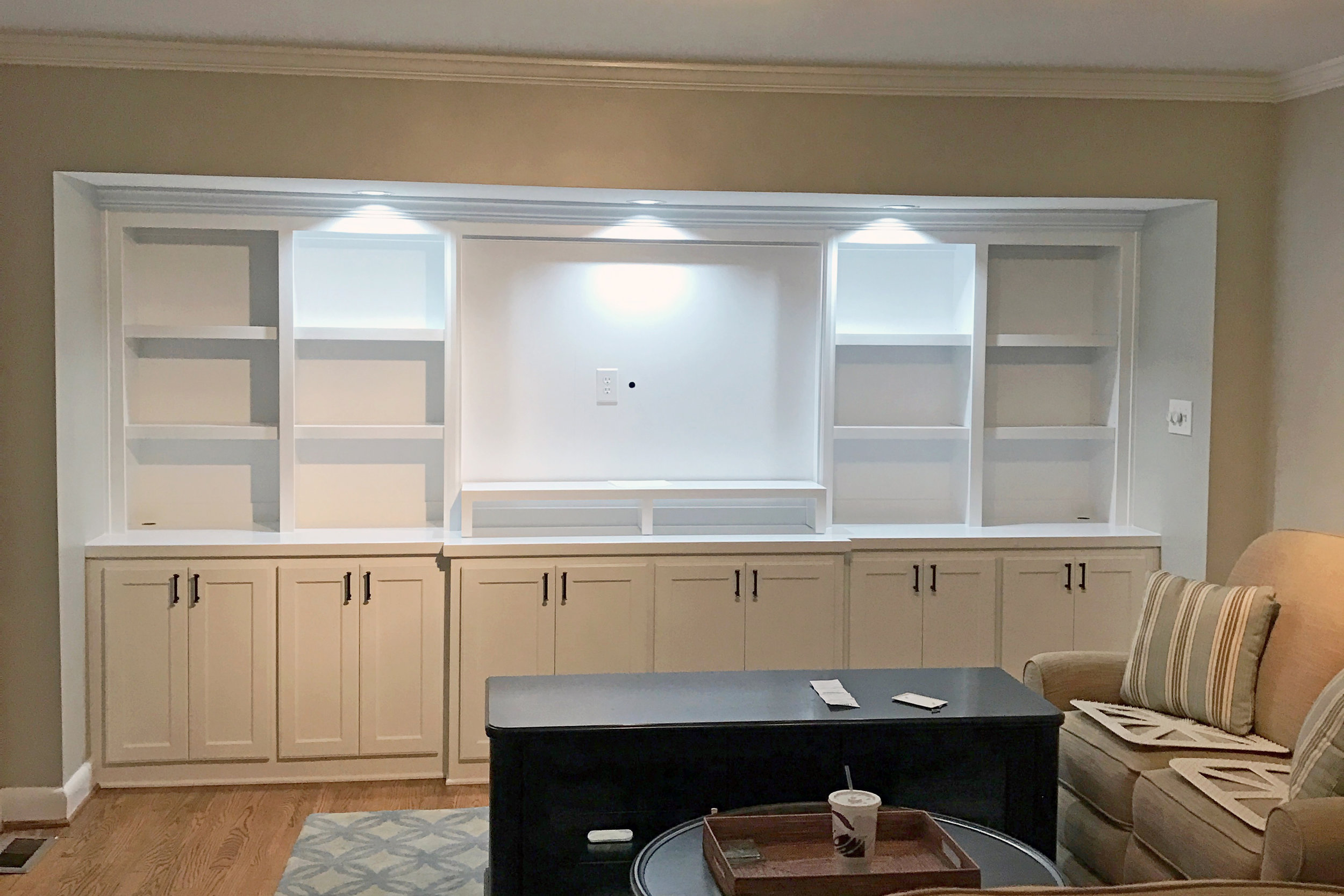 Custom Recessed Built-In - After