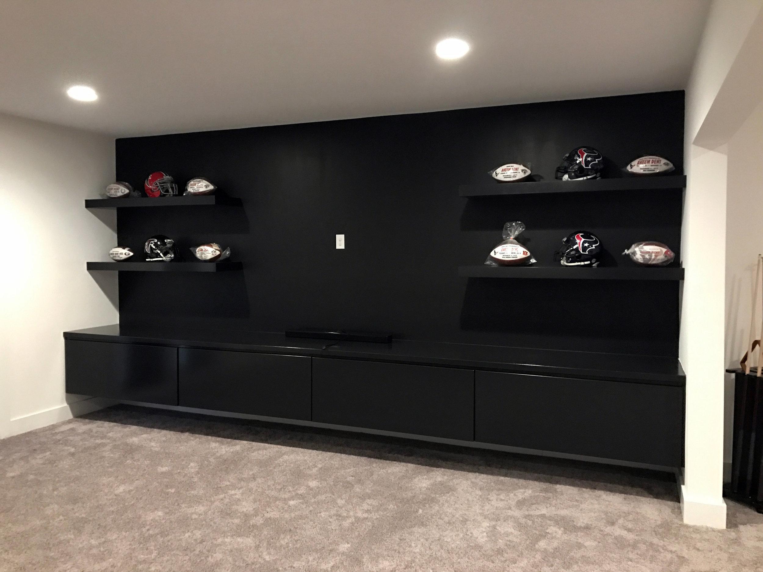 Floating Shelves & Cabinets - After