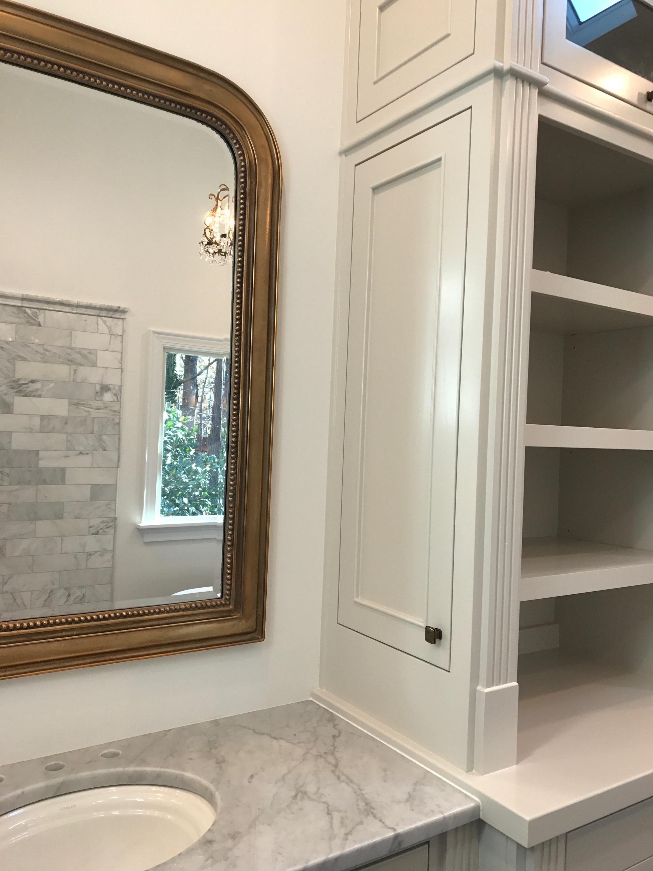 Custom Bathroom Vanity with Inset Doors, Fluting Detail, Crown Detail, Decorative Toe-Kick Detail, Side-Panel Cabinetry & Custom Framed Mirrors (2 of 3)