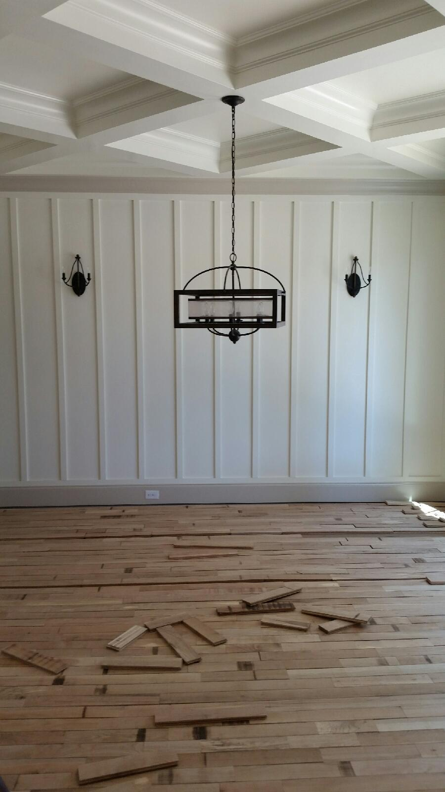 Board & Batten with Coffered Ceiling